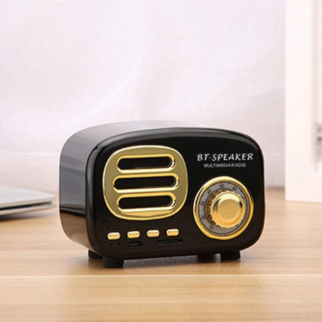 Weastion Retro Wireless Bluetooth Speaker Creative Gift Audio Speaker Lovely Radio Modeling Card Mobile Phone Audio Bass Bluetooth Car Kits Kids Bluetooth Speakers Audio Component Receivers Wireless