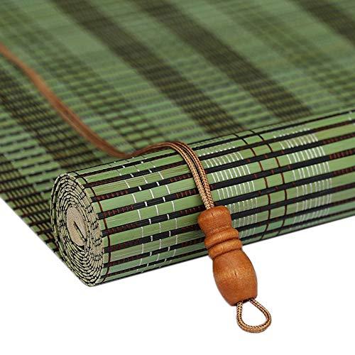 LXF Bambusrollo Rollos Grüne Rollläden dür Garten-Terrassendeck, Verdunkelungsvorhänge im Japanischen Stil für Innenfenster, 60/80/100/120 cm Breit (Size : 60×220cm)