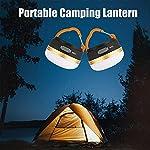 Yizhet-Lanterna-da-Campeggio-LED-Luce-per-Tende-Ricaricabili-USB-Power-Bank-3-modalita-Lanterna-da-Tenda-con-Base-Magnetica-Portatile-Impermeabile-Torce-da-Campeggio-per-Escursione-2-Pezzi