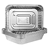 Plasticpro Disposable 9 x 13 Heavy Weight Aluminum Foil Pans Half Size Deep Steam Table Bakeware - Cookware Perfect for Baking Cakes, Bread, Meatloaf, Lasagna Pack of 10