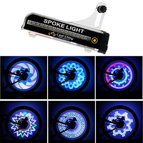 Marxways 32 LED Motorrad Fahrrad Fahrrad Fahrrad Rad Signal Wasserdicht Berg- und Nachtfahrwarnung Reifen Speichenlicht 21 Änderungen