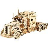 FFCVTDXIA Puzzle en Bois 3D, Échelle Modèle de véhicules mécaniques Kits de Construction, Meilleur Cadeau de Jouets pour Adultes Adolescents, Camion Lourd, 286 pièces zhihao