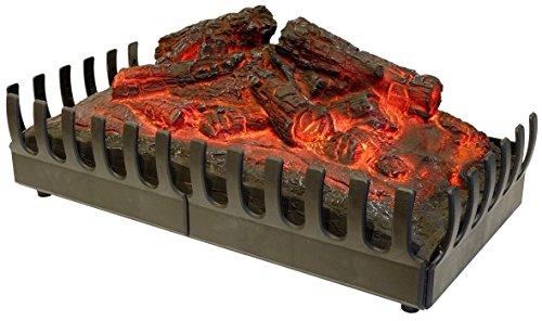Chemin'Arte 094 Deko-Holzscheite, rot leuchtend, für elektrische Kamine