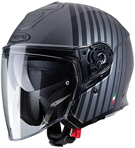 Caberg Unisex FLYON BAKARI Motorradhelm, schwarz, XXL