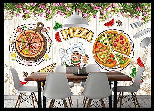 Fotomurali Parete occidentale dipinta a mano del fondo del ristorante della pizzeria italiana 3D Stampato Fotomurale Carta da parati non tessuta Decorazioni per la casa Carta da parati 200x150 cm