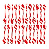 Wilton Peppermint-Flavored Candy Cane Candy Spoons, 4-Pack