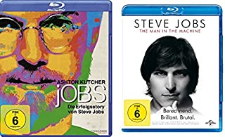 Steve Jobs Set (jOBS - Die Erfolgsstory von Steve Jobs & Steve Jobs - The Man in the Machine) - Deutsche Originalware [2 Blu-ra