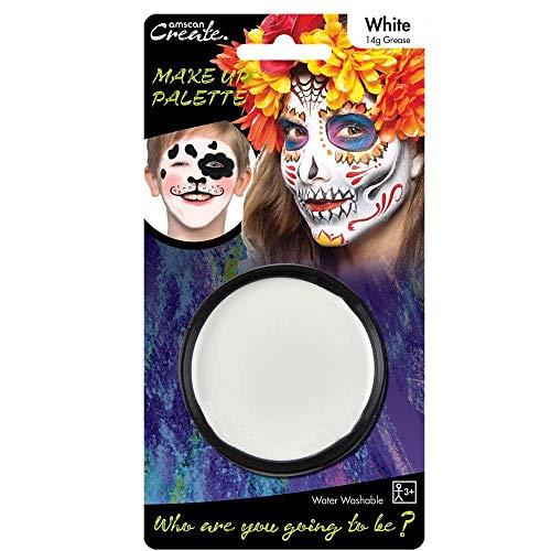 Amscan International Palette de Maquillage, Couleur Blanche – 14 g
