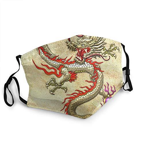 Mundschutz für Erwachsene, chinesischer Drache, verstellbar, für Damen und Herren