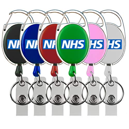 Rolseley NHS Intrekbare Badge Holder ID Badge Reel met NHS Logo + met Karabijnhaak Riem Clip en Sleutelhanger