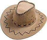 R&F srls Cappello Cowboy Marrone Cowgirl Scamosciato Festa Party Country Western