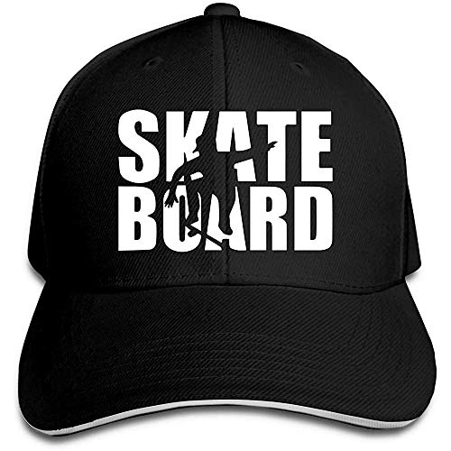Dale Hill Baseball Cap Skateboard Baumwolle Papa Hut verstellbar Vintage Sport und Outdoor Caps schwarz