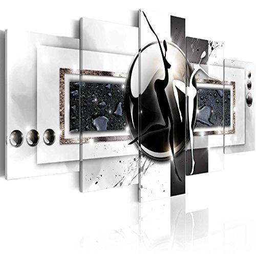 murando - Cuadro en Lienzo Abstracto Moderno 200x100 cm Impresión de 5 Piezas Material Tejido no Tejido Impresión Artística Imagen Gráfica Decoracion de Pared Arte h-A-0001-b-m