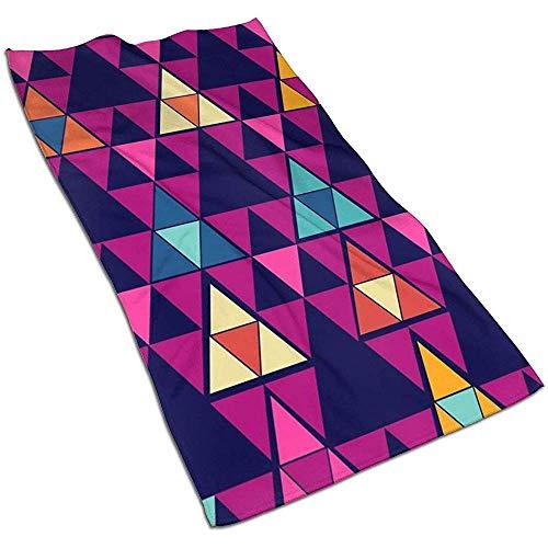 Toallas Color Triángulo Rompecabezas Toallas de Cocina, Trapo de Cocina, Lavable a máquina, Toalla de Plato, Toallas de té para secar, Limpiar, cocinar, Hornear (40 x 70 cm)