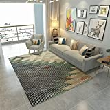 Liveinu Alfombra De Diseño Vendimia Contorneada Moquetas Pelo Corto Alfombras Salon con Bases Antideslizantes Moderno Lavables 80x120cm DT006-45