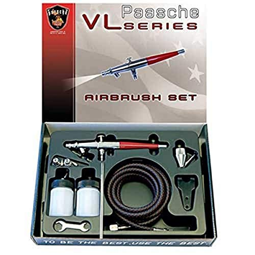 Paasche Airbrush Double Action Siphon Airbrush-Set, Mehrfarbig