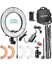 Neewer Kit LED Ring Light avec Pied 14 inch Anneau Lumineux 36W 5500K avec Tube Souple,Filtre,Sabot,Récepteur sans Fil Eclairage pour Caméra Smartphone Photo Studio Vidéo Youtube
