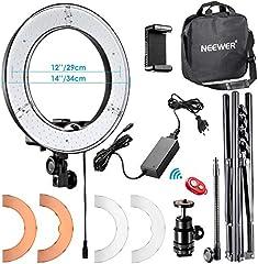 Neewer 36cm Exterior LED Anillo de Luz 36W 5500K con Soporte de Luz