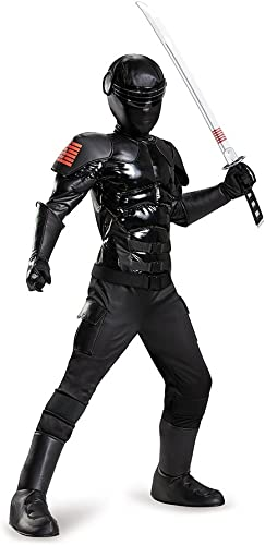 Disguise 85501L Snake Eyes Prestige Costume, Small (4-6) by Disguise