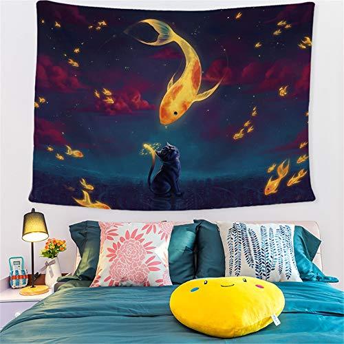 KHKJ Calle Tapices de Pared Decorativos Mandala Colgante de Pared Girasol Tropical Flamingo Tapiz de Pared Hippie Puesta de Sol Paisaje A4 200x150cm