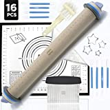 Rolling Pin - Adjustable Rolling Pin - Silicone Baking Mats For Sugar Cookies - Pastry Mat - Pastry...