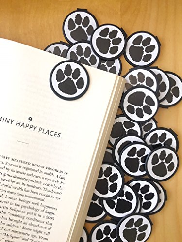 Black Spirit Paw Print School Mascot Bookmarks (Set of 36) Bookmarks for Kids! School Student Incentives– Library incentives– Reading Incentives- Party Favor Prizes- Classroom Reading Awards