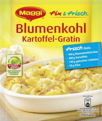 Maggi fix & frisch für Blumenkohl Kartoffel-Gratin, 35er Pack (35 x 51 g)