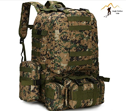 Jungle 50L Molle pour homme 's Lot Big Sacs de voyage Lot Camouflage Sac tactique poches Wild Sac à dos Unlimited Combinaison des Grandes Backpackhiking escalade Sac à dos, Jungle Digital