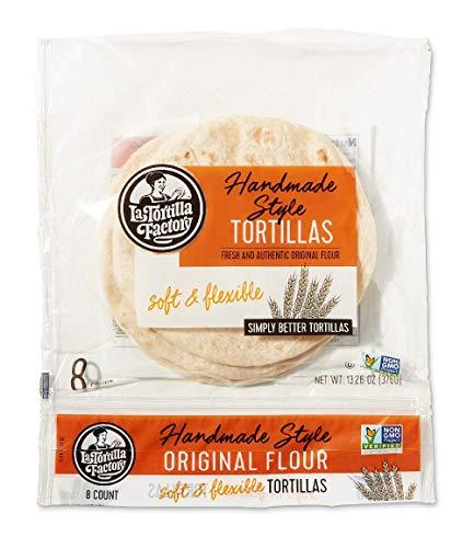 La Tortilla Factory Handmade Style Flour Tortillas, 8-Count, 6 Packages