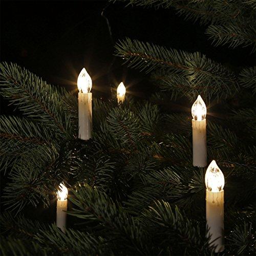 CLGarden LED Kerzen Lichterkette LEDKLK40 Kerzenlichterkette 40 Schaftlampen mit Kabel Timer