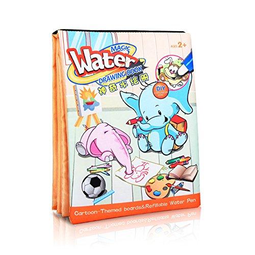 Pro Fantastische Magic Wasser Doodle Buch Wasser Gemälde etwas Kritzeln Graffiti Tuch färben Bücher für Kinder Kleinkind