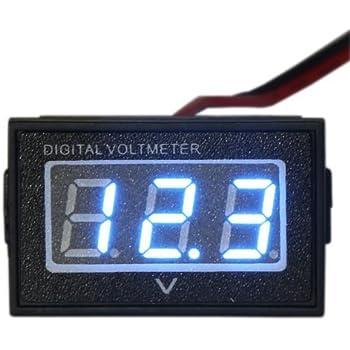 DIGITEN 0.56 Green DC 4.5-120V Digital Voltmeter Voltage Measurement 2 Wires Gauge LED Panel