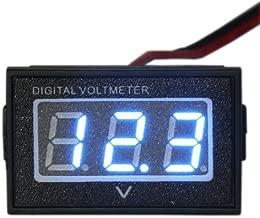 Waterproof Monitor DC 4.5-150V 12/24/36/48V Volt Battery Meter Voltage Tester Automative Electric Cars Gauge Golf Cart E-Bike Bicycle Motorcycle Small Digital Voltmeter 0.56
