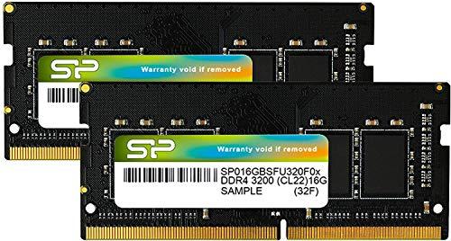 シリコンパワー ノートPC用メモリ DDR4-3200(PC4-25600) 16GB×2枚 260Pin 1.2V CL22 永久保証 SP032GBSFU32...
