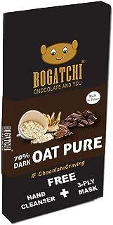 BOGATCHI Healthy Oats 70% Dark Chocolate Bar, Pure Dark Chocolate, Low Carbs, Keto Chocolate, 80g