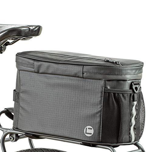 BAIGIO Bolsa Térmica para Bicicleta,Paquete de Refrigeración/Paquete de Aislamiento Bicicleta Estante Trasero Almacenamiento Equipaje Bolsa Bandolera Reflectante para Portaequipajes (Negro)