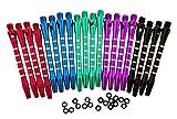 CavalierDarts 5 Colors/20 Pcs Aluminum Medium Darts Shafts Dart Stems Throwing Fitting with O'ring 53mm
