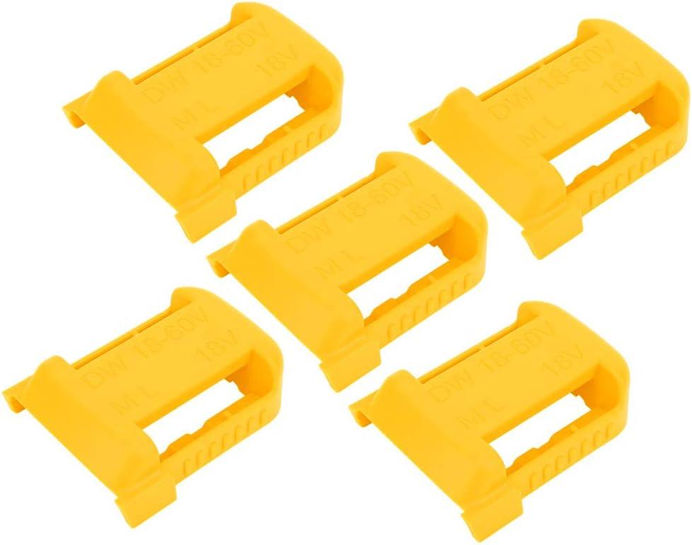 Gelb 5 St/ück Lithium-Batterie-Lagerregal Organizer Aufbewahrungskoffer G/ürtelschlitz f/ür Milwaukee M18 18V