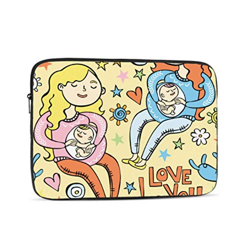 MacBook Pro Laptop Cover Pregnant Mother Beautiful Baby Macbookpro Case Multi-Color & Size Choices10/12/13/15/17 Inch Computer Tablet Briefcase Carrying Bag