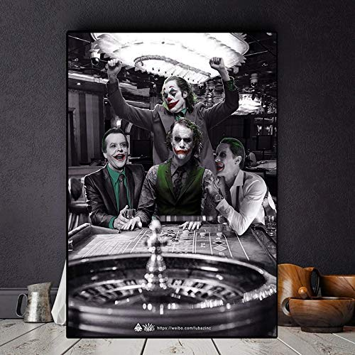 BGFDV 2019 Joker movie actor Joaquin Canvas oil painting poster print wall art picture decoration living room