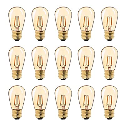 Genixgreen Outdoor String Lights Replacement Bulbs E26 Medium Base 2200k Ultra Warm White Party Lights Outdoor Replacement Bulbs