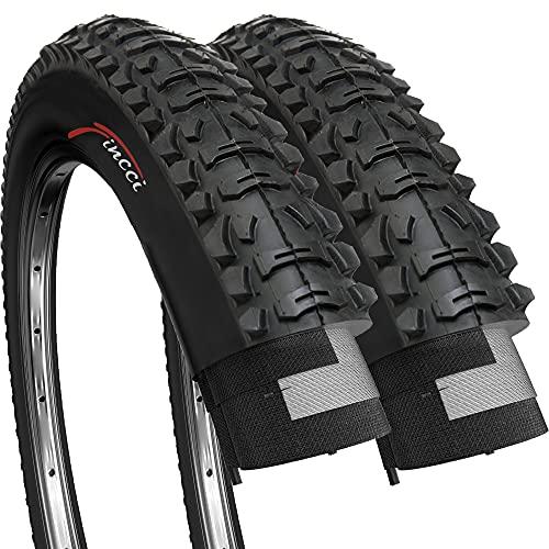 Fincci Par Carretera de Montaña Bicicleta Híbrida Neumático para Plegable Cubiertas 26 x 1,95