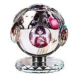 AUEDC Marcos de Fotos Personalizados Marco de Fotos de Cristal Personalizado Regalo de Recuerdo Giratorio de 360 ° Marco de Fotos de Cristal 3D esposos Esposa 11 Foto