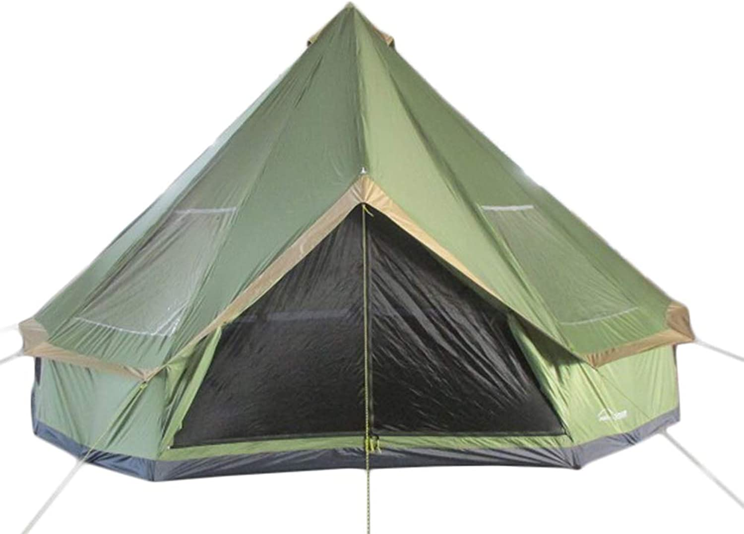 DANCHEL OUTDOOR 16.4ft AntiSmear Silver Coated Yurt Tents for Family Campping 30LB Light Weight