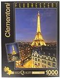 Clementoni - Puzzle de 1000 Piezas, Fluorescent Collection, diseño París (392100)