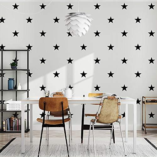 TYBXK tapete Schwarz Weiß Star Baby Nursery Tapete for Kinderzimmer Neutral Jungen Mädchen-Wand-Papier for Kinder Schlafzimmer Deckungen Dekor 188 (Color : WP67509, Dimensions : 10mx53cm)