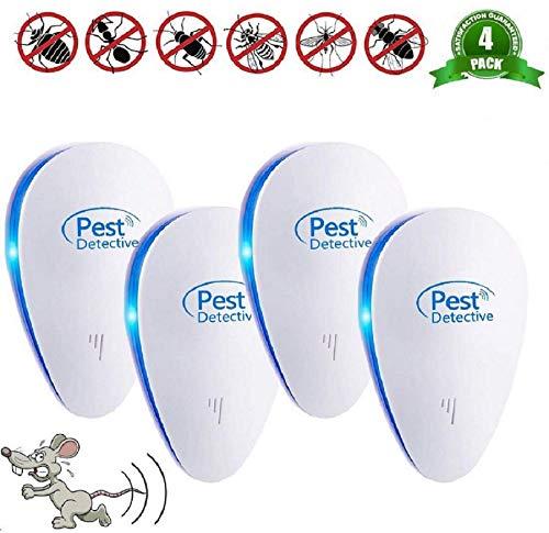Répulsif Ultrason Anti-Rongeurs Insectes,Repulsif...