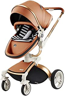3-in-1 Baby high Landscape cart, Baby Folding Shock Absorber Light Two-Way Stroller, Suitable for 0-3 Years Old Baby, with Basket and Sleeping Basket, Five Colors Optional,Silver
