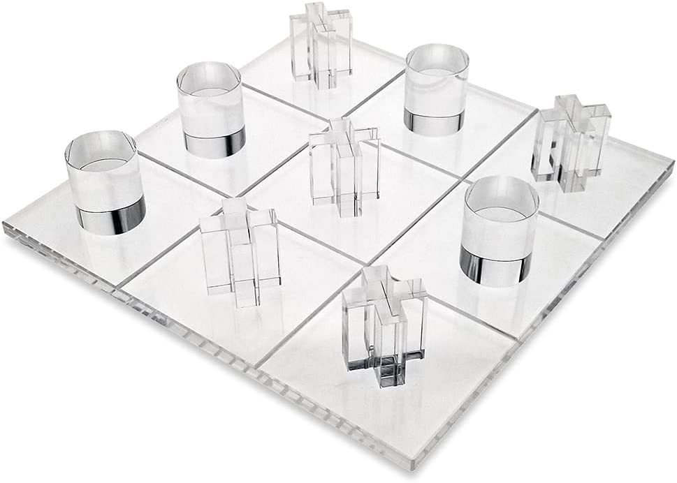 OnDisplay 3D Spasm price Luxe Acrylic Tic Toe Set Tac Max 41% OFF Clear