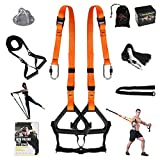 MOULYAN Bodyweight Resistance Training Straps Complete Home Gym Fitness Trainer...